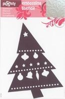 484139049 Pronty Emb. Stencil Kerstboom