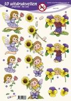 PO2662 Push Out Meisje Bloemen