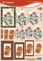VB2145 Pyramide Kerstlantaarn/Bloemen