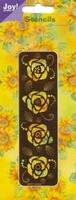 60010068 Joy stencil voor Embossen en borduren