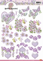 CD10188 3D Carddeco Yvonne Love Bloemen
