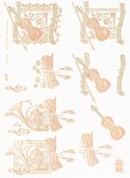 TBZ572443 Embossed Muziekinstrumenten