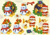 TBZ564231 Embossed Kerst