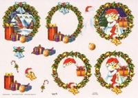 TBZ564308 Embossed Kerst