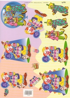 TBZ504904 Embossed Clowns