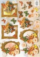 TBZ572108 Embossed Bloemen/Vlinders