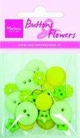 BF0716 Knoopjes & Bloemen Lichtgroen