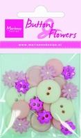 BF0703 Knoopjes & Bloemen Roze Marianne Design