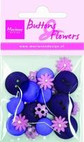 BF0705 Knoopjes & Bloemen Donker Blauw Marianne Design