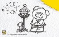 PI008 Nellie Snellen Stempel Pig Birthouse