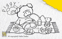 PI001 Nellie Snellen Stempel Pig Picknic