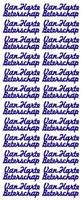 ST013B Sticker Van Harte Beterschap Brons