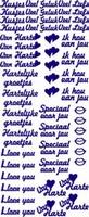 ST064G Sticker Hartelijke Groetjes-Hou van jou Goud