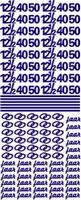 ST076G Sticker 12 1-2, 40 en 50 jaar Goud
