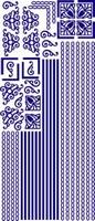 ST111G Sticker Randen/Hoeken  Goud