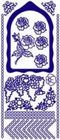 ST136G Sticker Bloemen-Randen  Goud