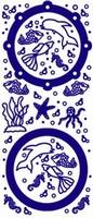 ST137G Sticker Aquariumvissen  Goud