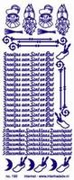 ST192Z Sticker Sint en Piet Zilver