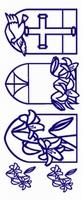 ST195ZW Sticker Religie Zwart