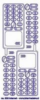ST203TZ Sticker Telefoon Transparant Zilver