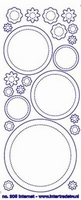 ST205TG Sticker Cirkels/Bloemen Transparant goud