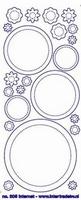 ST205TZ Sticker Cirkels/Bloemen Transparant Zilver