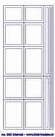 ST206TZ Sticker Rechthoek/Lijnen Transparant Zilver