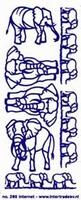 ST208G Sticker Olifanten Goud