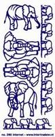 ST208Z Sticker Olifanten Zilver