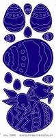 ST232TG Sticker Pasen  Transparant Goud