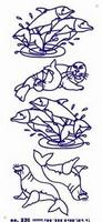 ST236G Sticker Dolfijnen Goud