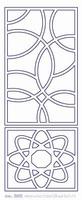 ST242TZ Sticker Div.Kaders Transparant Zilver