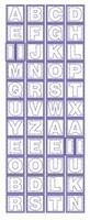 ST243TZ Sticker Alfabet Transparant Zilver