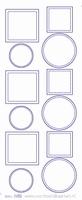 ST269TG Sticker Rondjes-Vierkantjes Transparant Goud