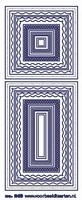 ST249TRG Sticker kaders Transparant-Goud