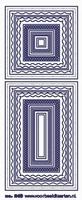 ST249TZ Sticker kaders Transparant Zilver