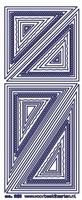 ST261TZ Stickers Transparant Kaders Zilver