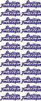 ST510BL Sticker Prettige Feestdagen Blauw