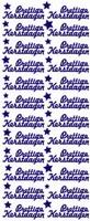 ST516LG Sticker Prettige Kerstdagen  Lichtgroen