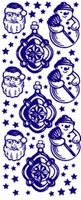 ST524G Sticker Kerstman/Sneeuwpop Goud