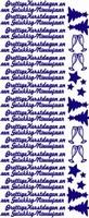 ST526BL Sticker Prettige Kerstdagen/G.N. Blauw