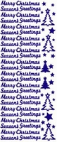 ST530R Sticker Merry Christmas Rood