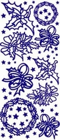 ST531Z Sticker Kerst Zilver