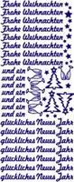 ST537Z Sticker Frohe Weihnachten Zilver
