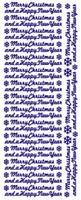 ST553G Sticker Merry Christma/Happy NY Goud