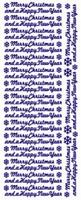 ST553Z Sticker Merry Christma/Happy NY Zilver
