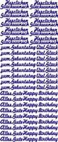 ST801G Sticker Herz.Glueckwunsch Goud