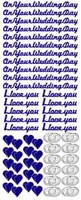 ST806G Sticker On your wedding days Goud