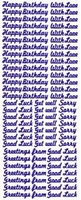 ST809Z Sticker Happy birthday Zilver