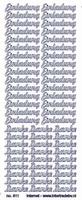 ST811Z Sticker Einladung Zilver